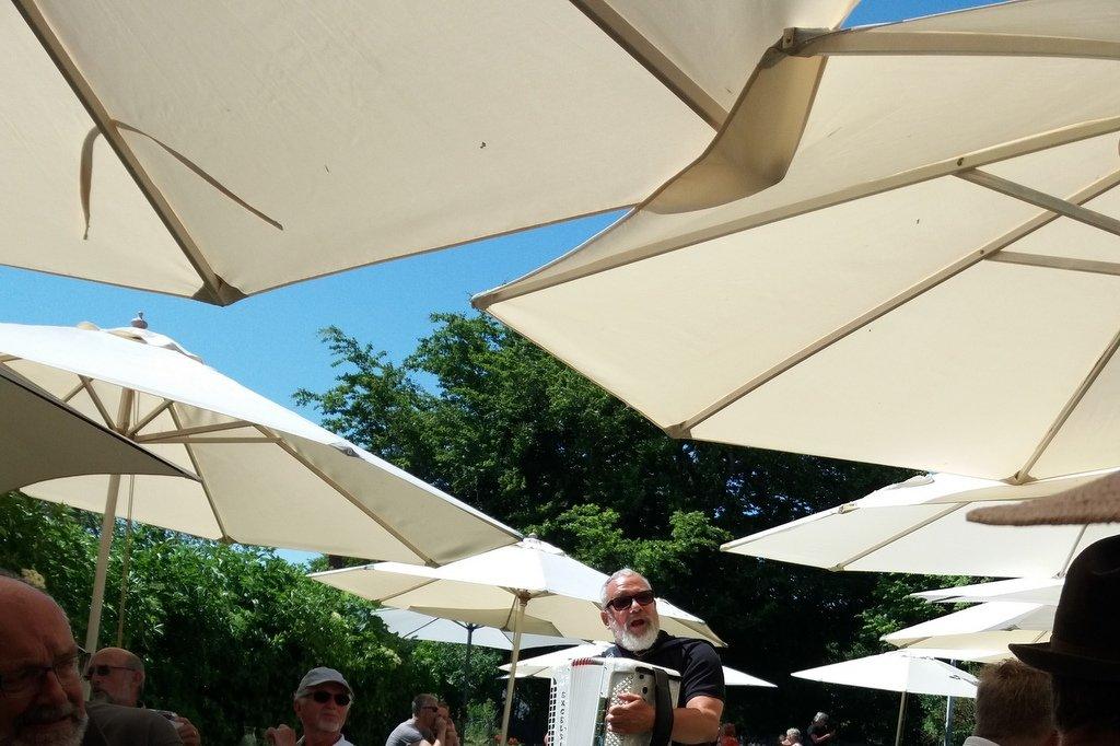 Under parasollerne - er det ikke et smukt syn